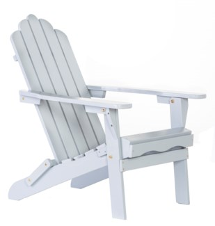 Grey Folding Adirondack Chair